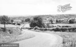 Combe St Nicholas, From Stoopers Hill c.1955
