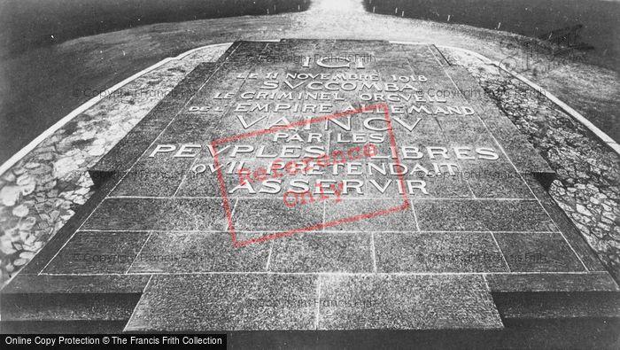 Photo of Compiègne, Wwi Memorial Stone c.1927