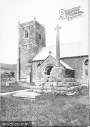 Compton Bishop, Church And Cross 1907