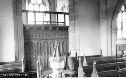 Compton Bishop, The Font, The Church c.1955