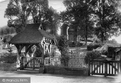 Compton, Cemetery Chapel Lychgate 1906
