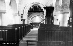 Compton, The Church, Interior c.1955