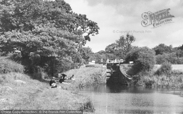 Photo of Congleton, Canal Lock And Boys Fishing c.1965