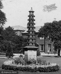Congleton, In The Gardens, West House 1898