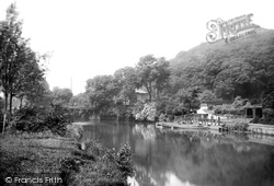 Congleton, Park, The River Dane 1898
