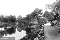Congleton, River Dane And Entrance To Park 1898