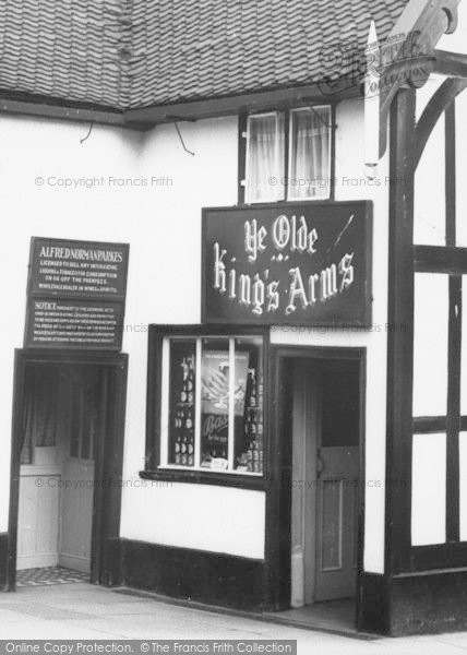 Photo of Congleton, The King's Arms Entrance c.1965