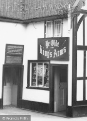 Congleton, The King's Arms Entrance c.1965