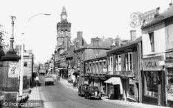 Congleton, Town Hall And High Street c.1955