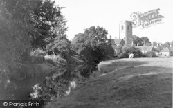 Coningsby, Church And River c.1955