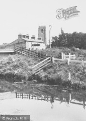 Church From The River c.1960, Coningsby