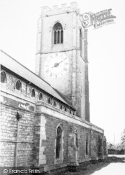 Coningsby, The Church Clock c.1965