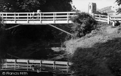 Coningsby, Wooden Bridge And Church c.1960