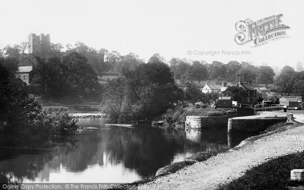 Conisbrough, the Castle from the River 1895