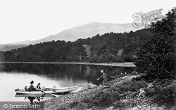 Coniston, Head Of Coniston Water And The 'old Man' c.1873