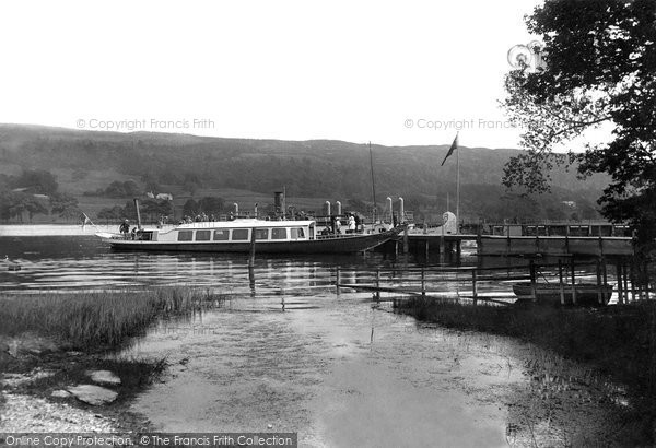 Photo of Coniston, Lake, The Gondola At The Pier 1912