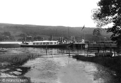 Coniston, Lake, The Gondola At The Pier 1912