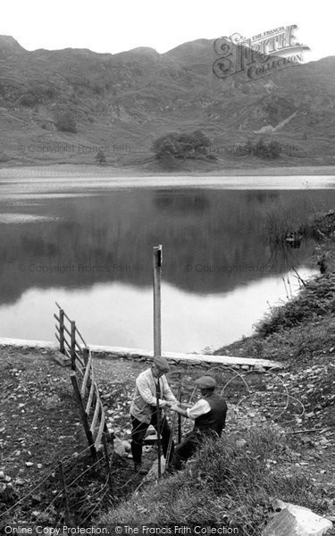 Photo of Coniston, Men Working, Oxenfell Tarn 1924