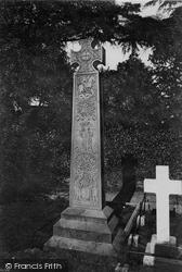 Ruskin's Monument 1912, Coniston