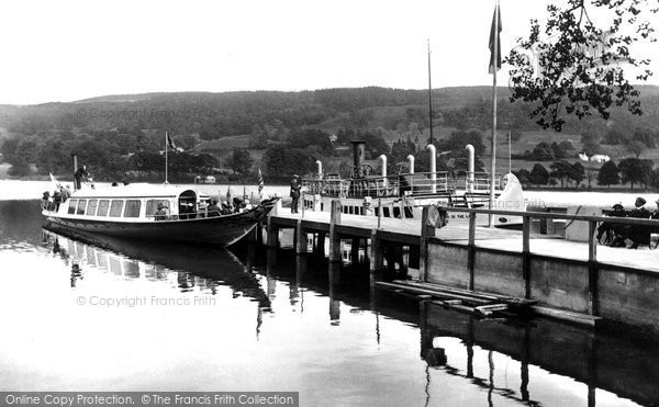 Photo of Coniston, The Lake And The Gondola At The Pier 1912