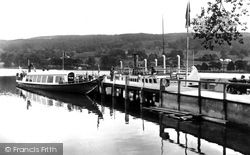 Coniston, The Lake And The Gondola At The Pier 1912