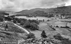 Coniston, The Lake From Beacon's Crag 1929