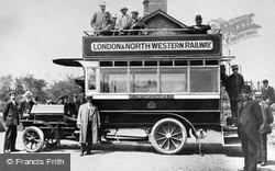 Connah's Quay, The Bus To Mold c.1910