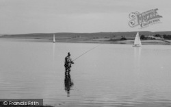 Consett, Fishing In Derwent Reservoir c.1965