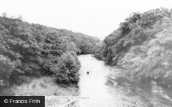 The River At Allensford c.1965, Consett