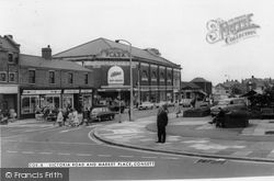 Consett, Victoria Road And Market Place c.1965