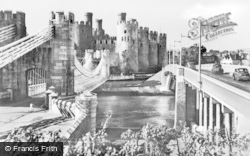 Conwy, Bridges And Castle c.1950