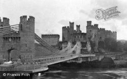 Conwy, Castle And Bridge c.1920