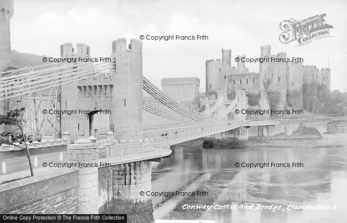Photo of Conwy, Castle And Bridge c.1930