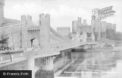 Conwy, Castle And Bridge c.1930