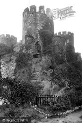 Conwy, Castle, Drawbridge 1913