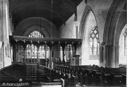 Conwy, Church Interior c.1876