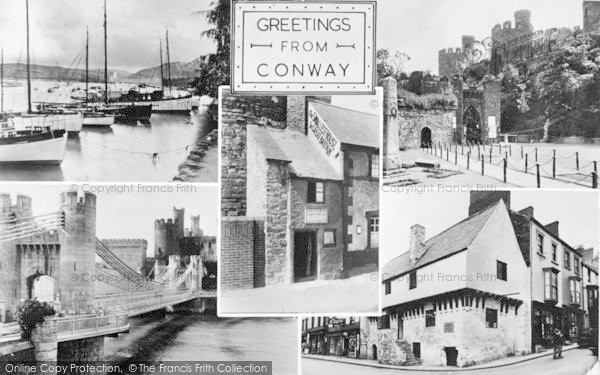 Photo of Conwy, Composite c.1955