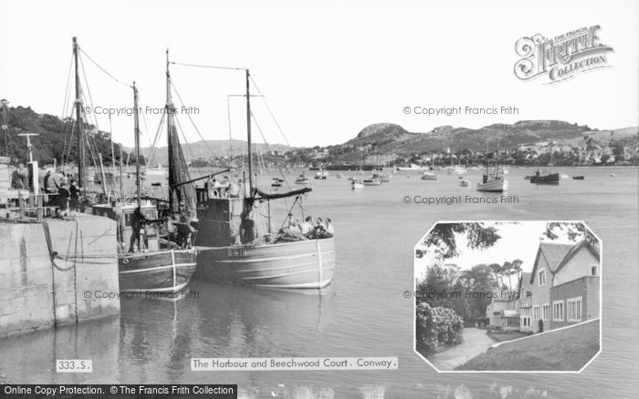 Photo of Conwy, Harbour And Beechwood Court c.1955