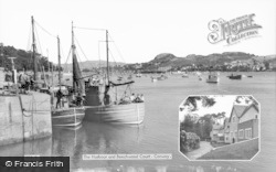 Conwy, Harbour And Beechwood Court c.1955