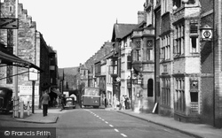 Conwy, High Street And Castle Hotel c.1955