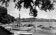 Conwy, Marine Walk, the Harbour c1955