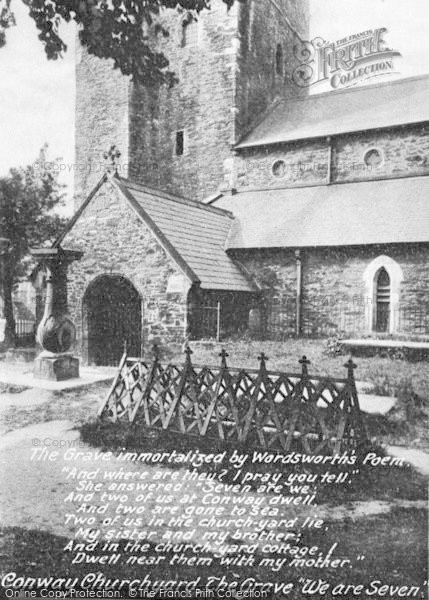 Photo of Conwy, St Mary's Church And The Grave That Inspired Wordsworth's Poem 1913