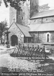 Conwy, St Mary's Church And The Grave That Inspired Wordsworth's Poem 1913