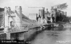 Conwy, The Bridge And Castle c.1930