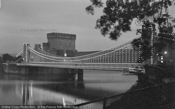 Photo of Conwy, The Bridge Illuminations c.1936