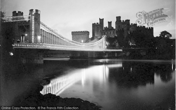 Photo of Conwy, The Bridge Illuminations c.1936
