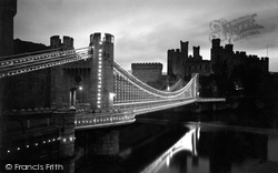 Conwy, The Bridge Illuminations c.1936
