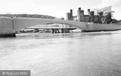 Conwy, The Bridges And Castle c.1965