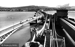Conwy, The Bridges c.1960