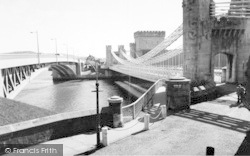 Conwy, The Bridges c.1965